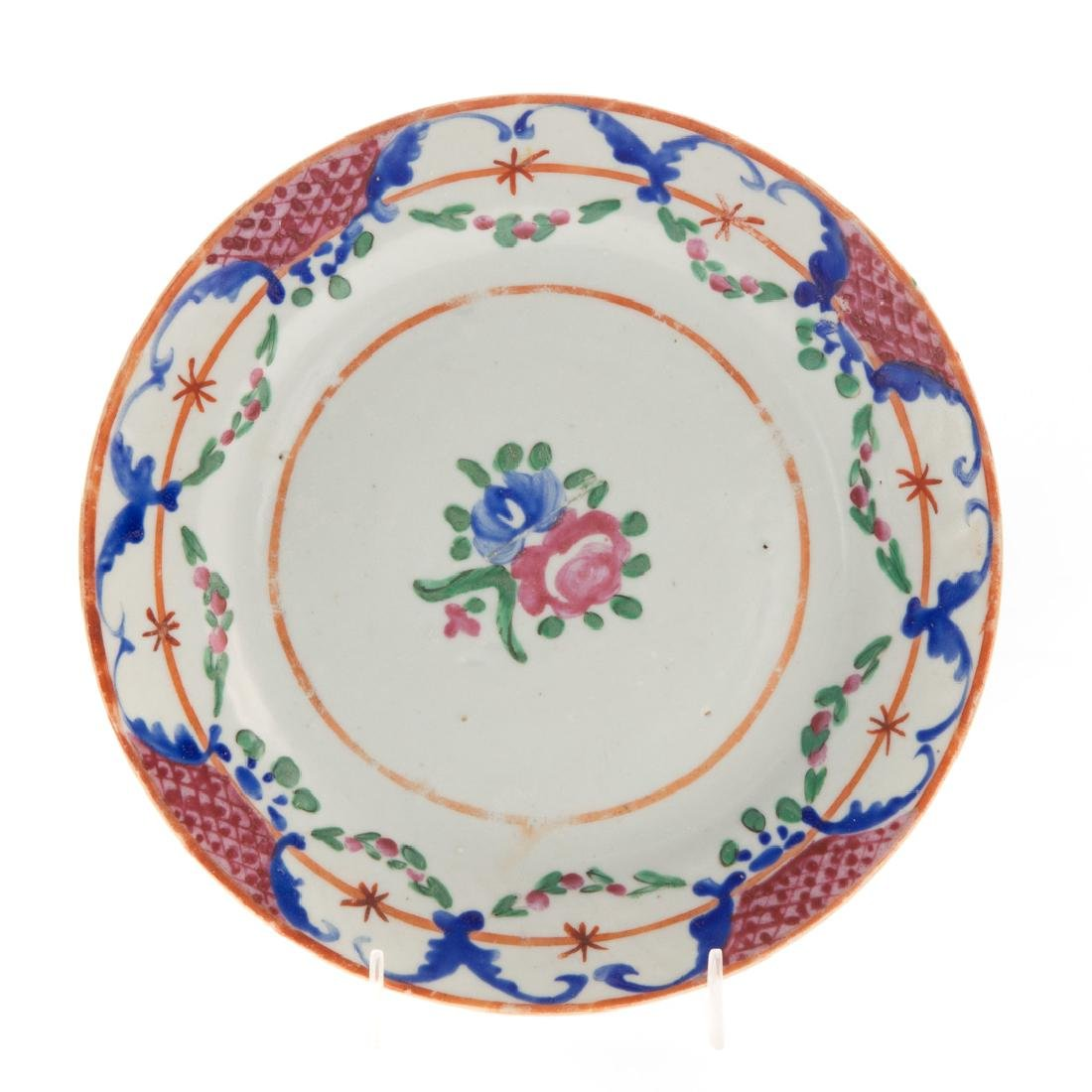 Six Chinese Export porcelain plates - 5