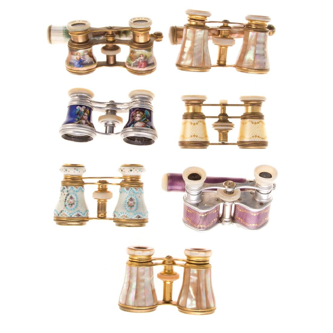 Eight sets of French opera glasses - 2