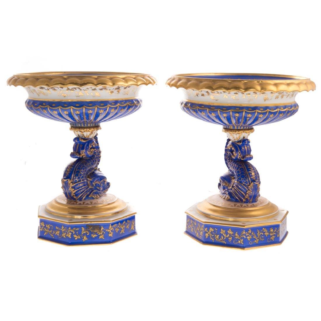Pair Paris porcelain compotes - 2