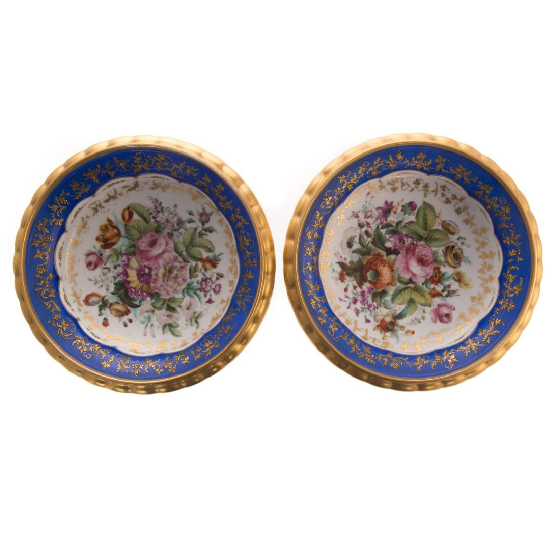 Pair Paris porcelain compotes - 5
