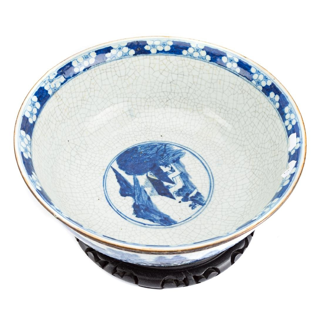 Chinese Export punch bowl & two Fitzhugh plates - 3