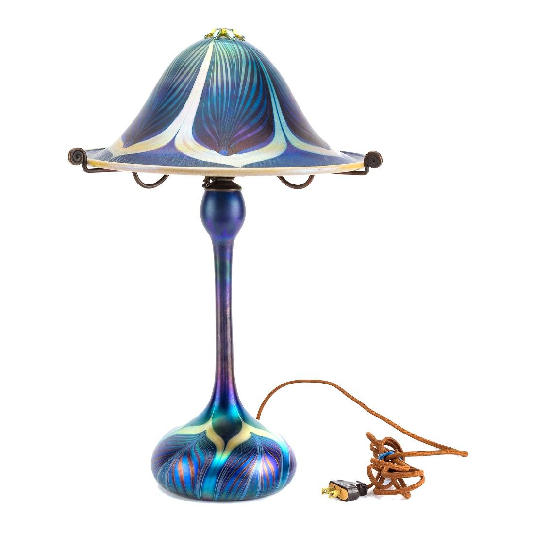 Carl Radke art glass lamp - 2