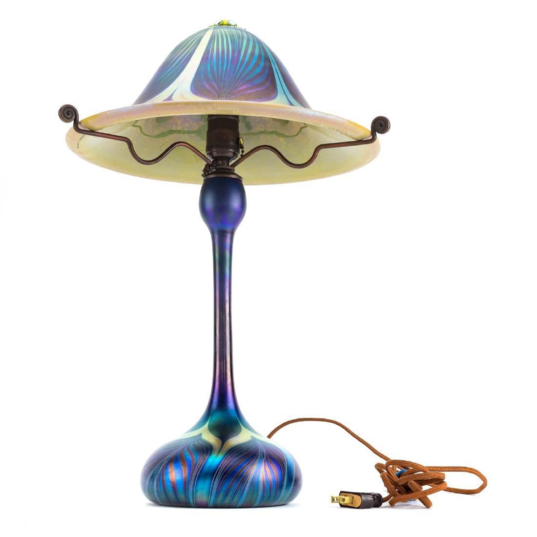 Carl Radke art glass lamp - 3