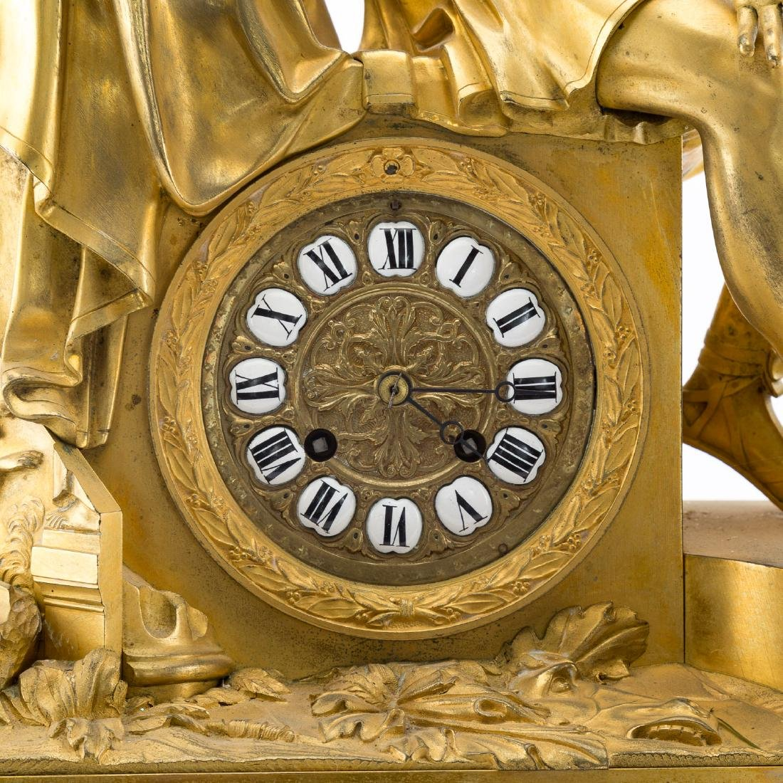 French Empire gilt-bronze figural mantel clock - 4