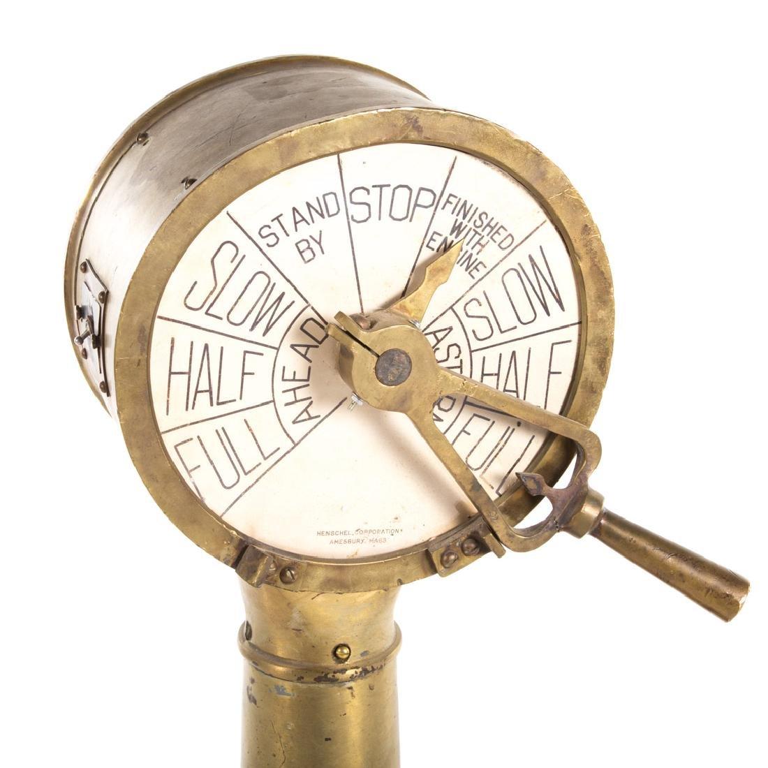 Henschel bronze engine order telegraph - 2