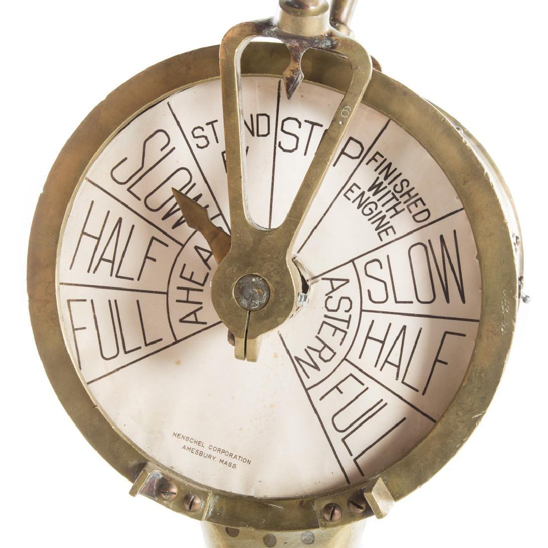 Henschel bronze engine order telegraph - 4
