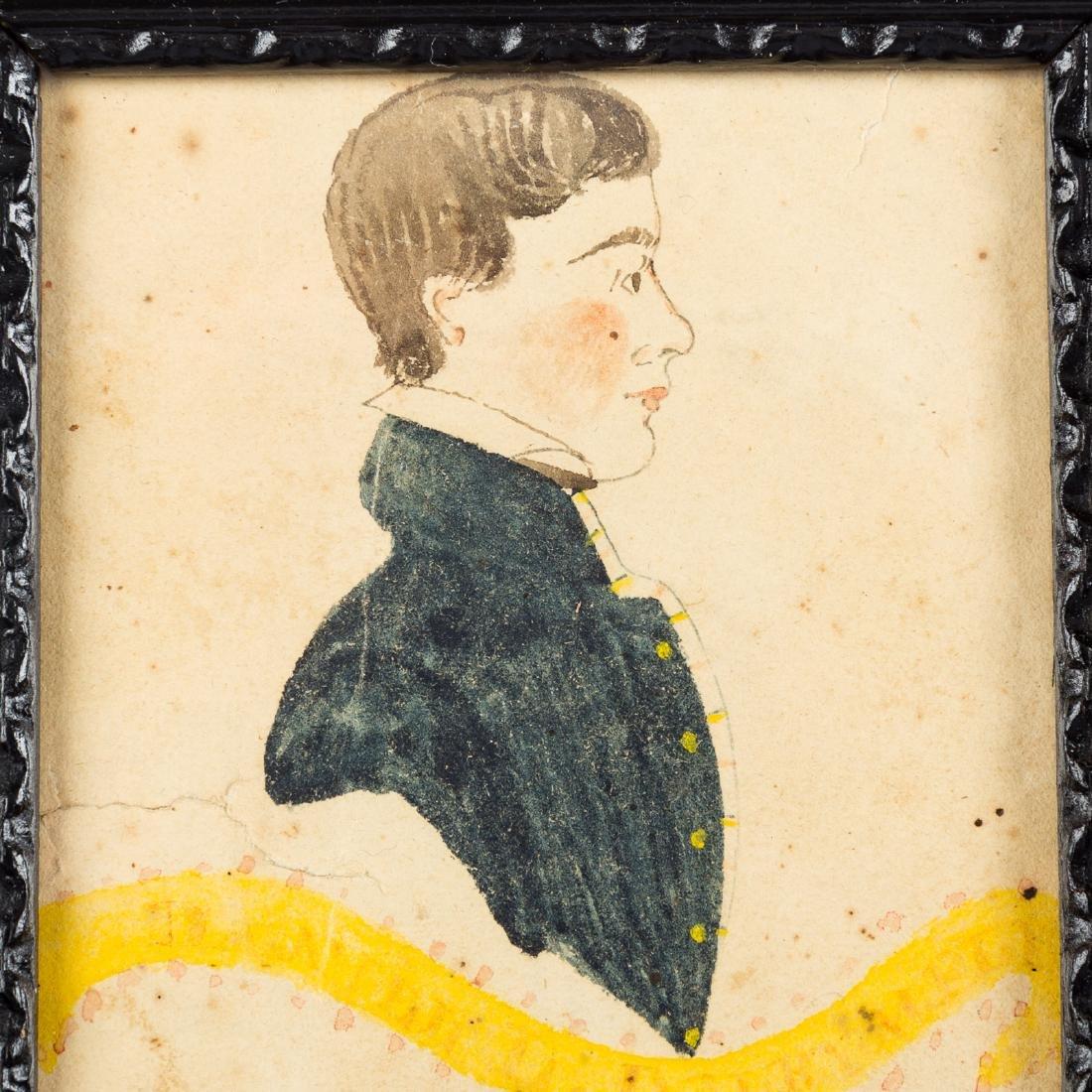 American School 19th century portrait miniature - 2