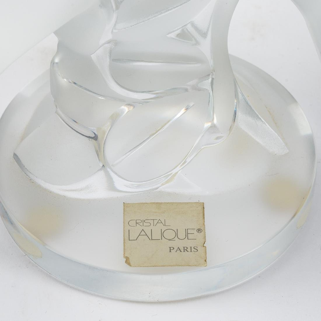 Lalique partially frosted crystal Ariane Doves - 4