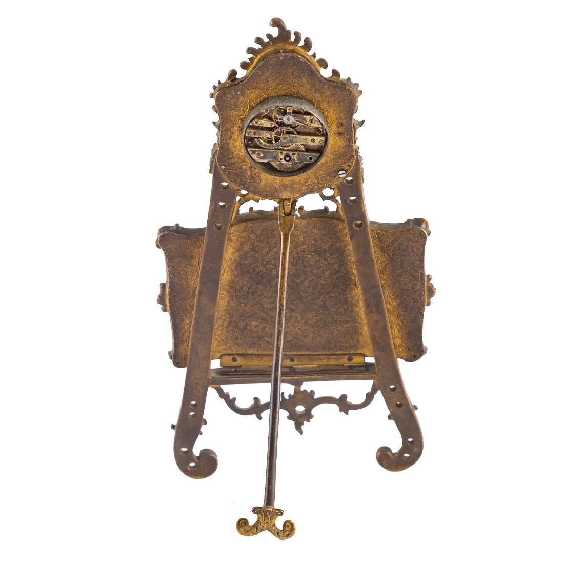 Rococo style gilt-metal desk clock - 5