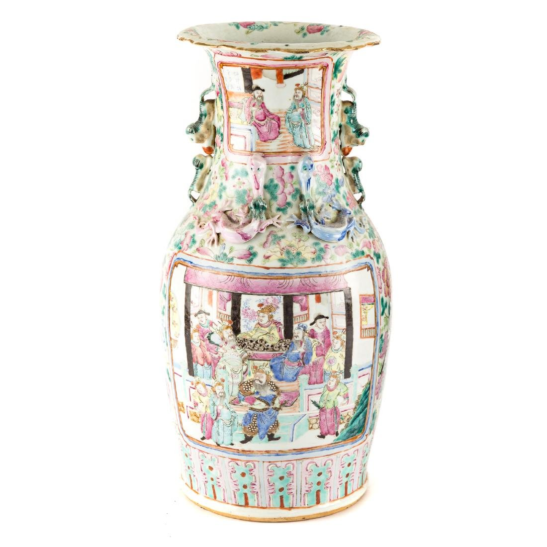 Pair Chinese Export Famille Rose vases - 3
