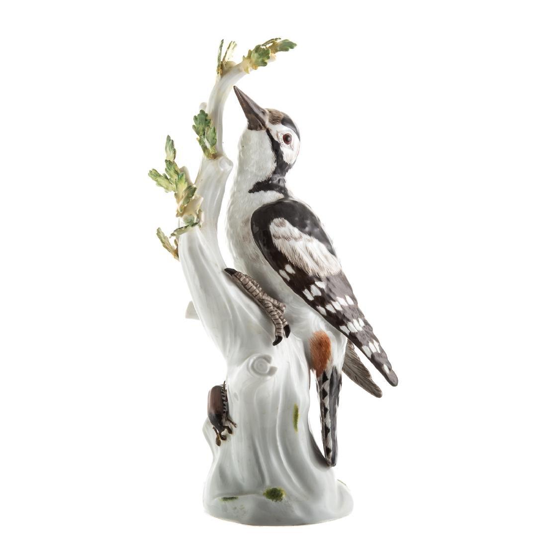 Meissen porcelain pileated woodpecker