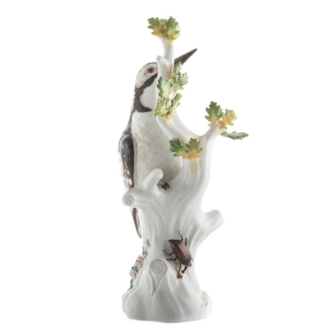Meissen porcelain pileated woodpecker - 2