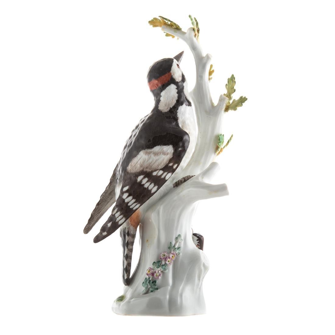 Meissen porcelain pileated woodpecker - 3