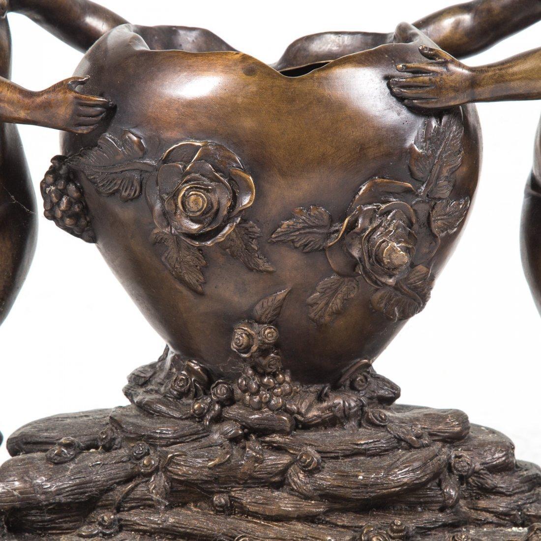 Louis XVI style bronze figural planter - 2