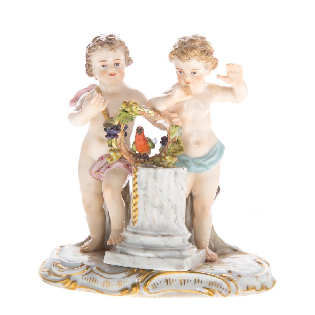 Meissen porcelain allegorical group