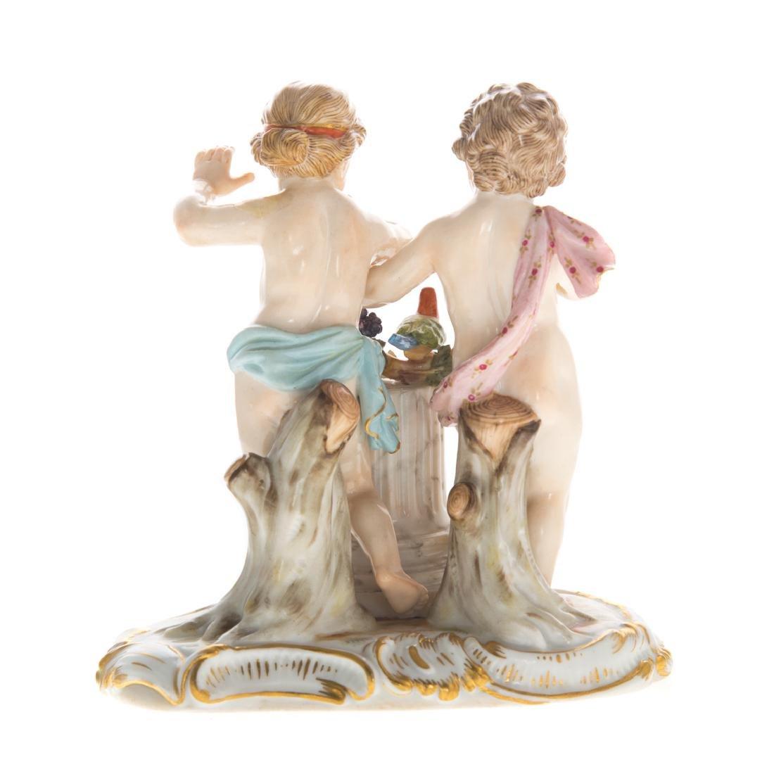 Meissen porcelain allegorical group - 2