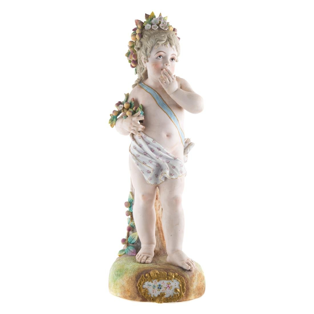 Austrian painted bisque young Dionysus
