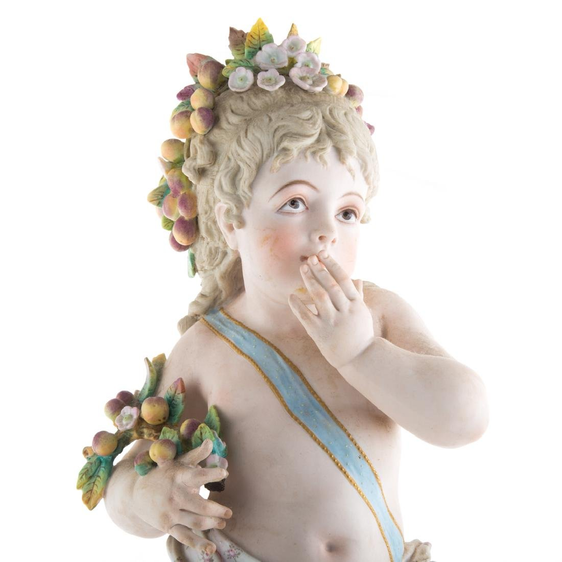 Austrian painted bisque young Dionysus - 2