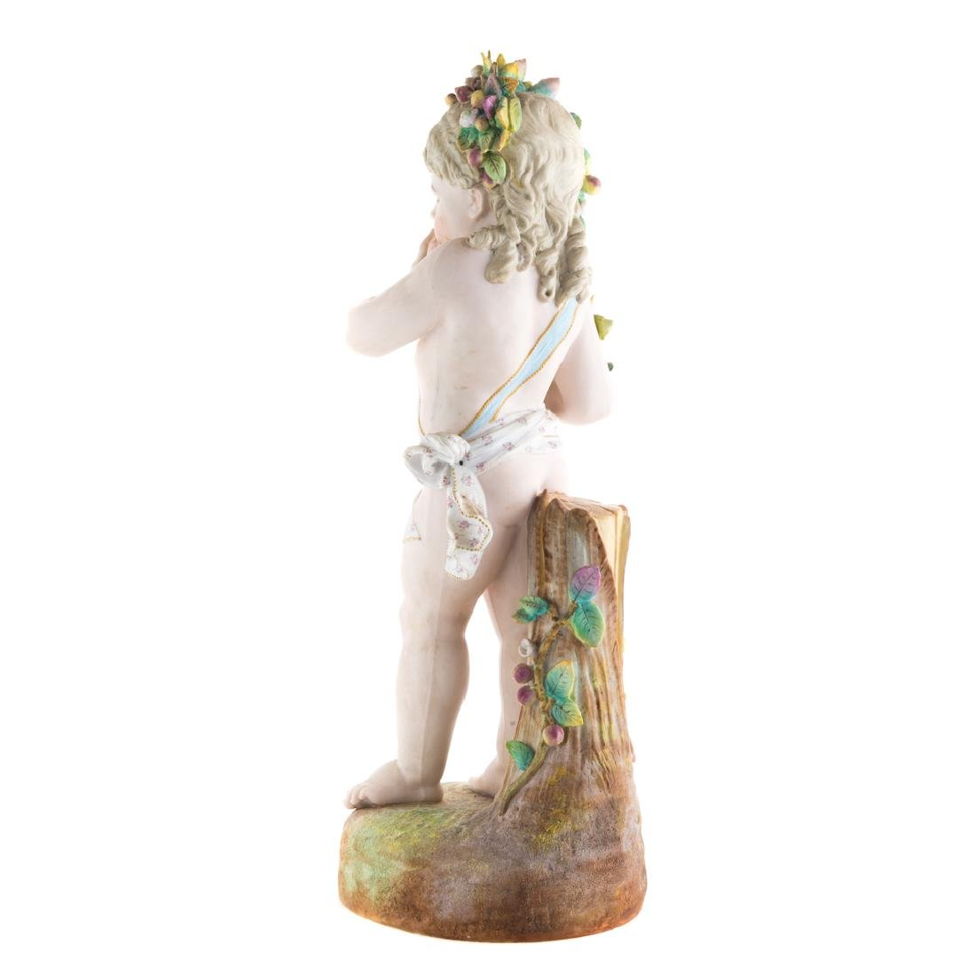 Austrian painted bisque young Dionysus - 3