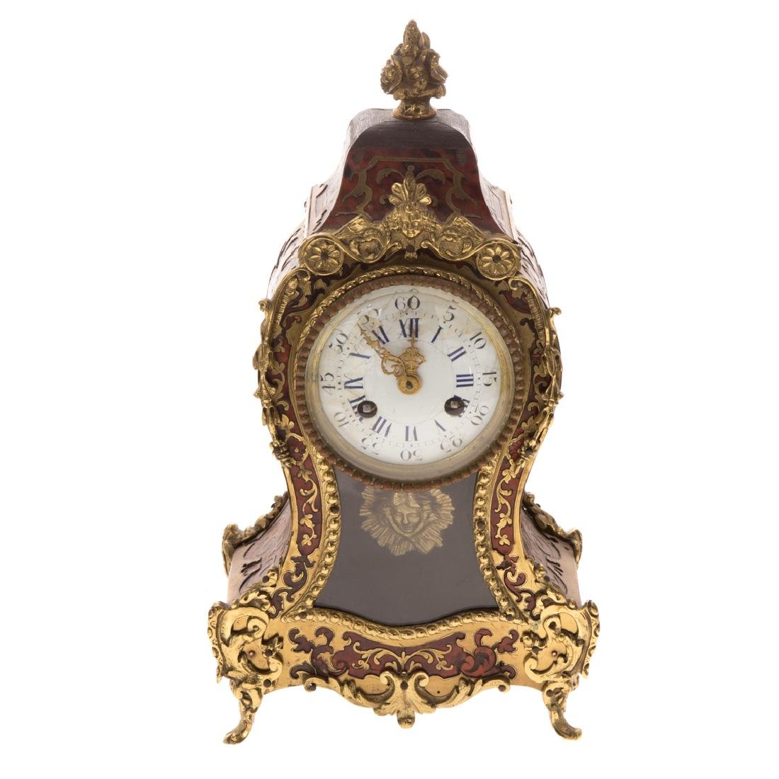 Louis XVI style Boulle marquetry desk clock