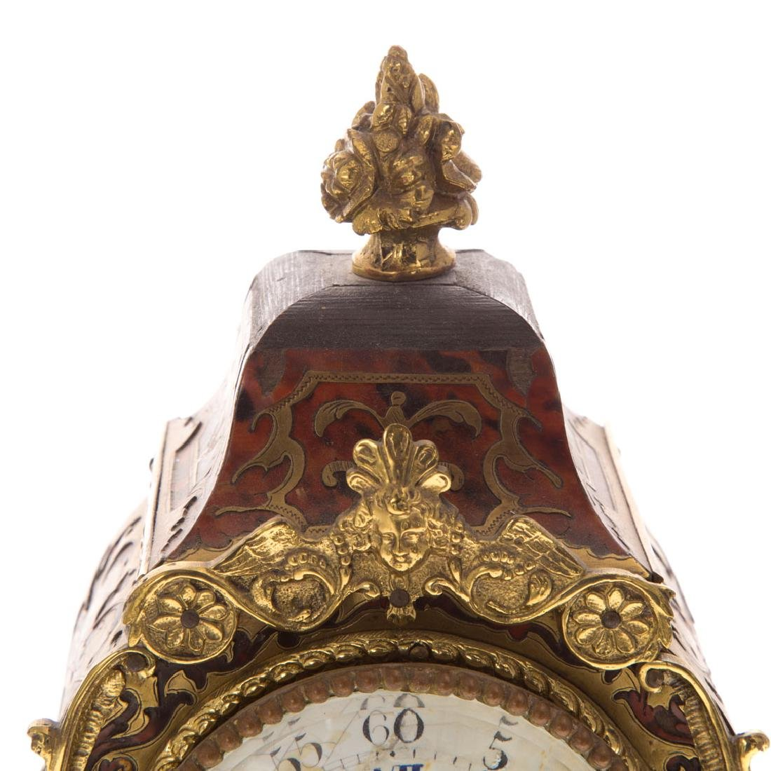 Louis XVI style Boulle marquetry desk clock - 3