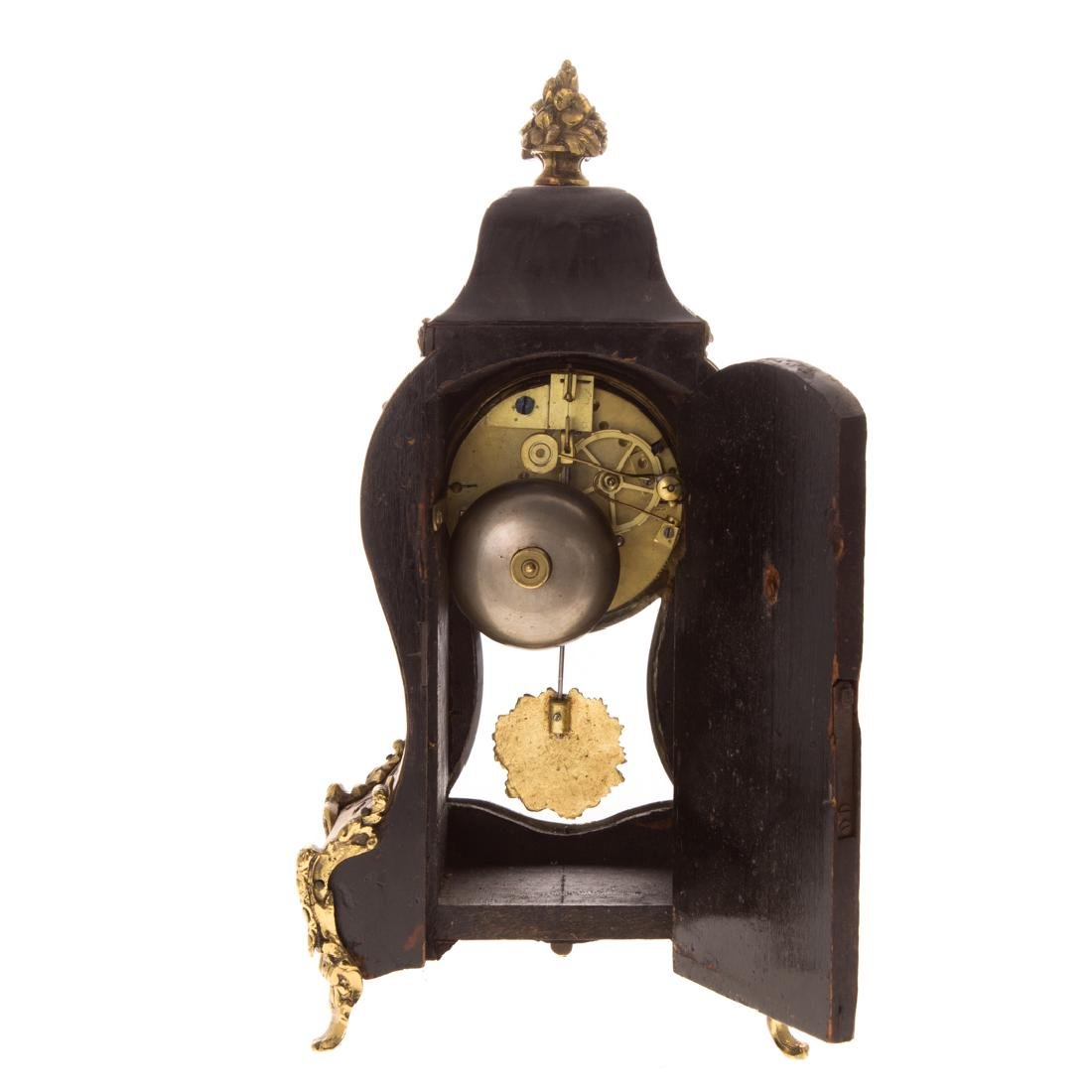 Louis XVI style Boulle marquetry desk clock - 5