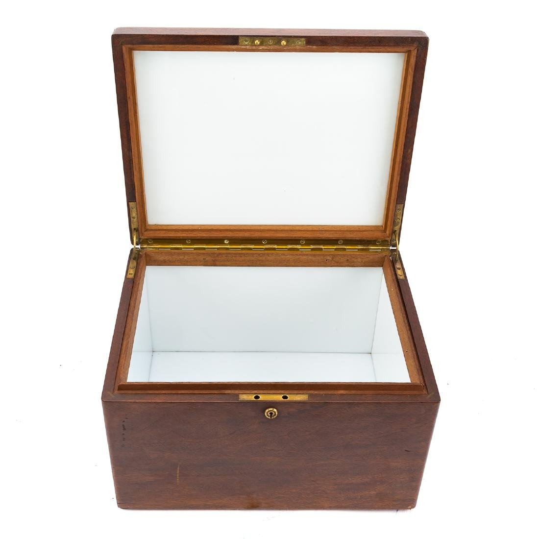 Victorian oak glass-lined tobacco humidor - 4