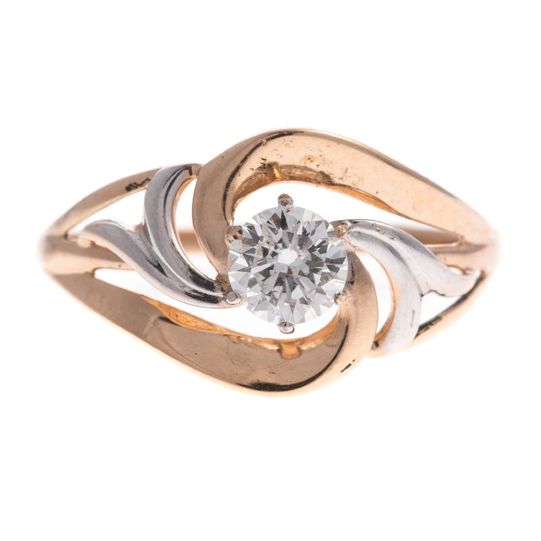 A Lady's Diamond Ring in 14K Gold