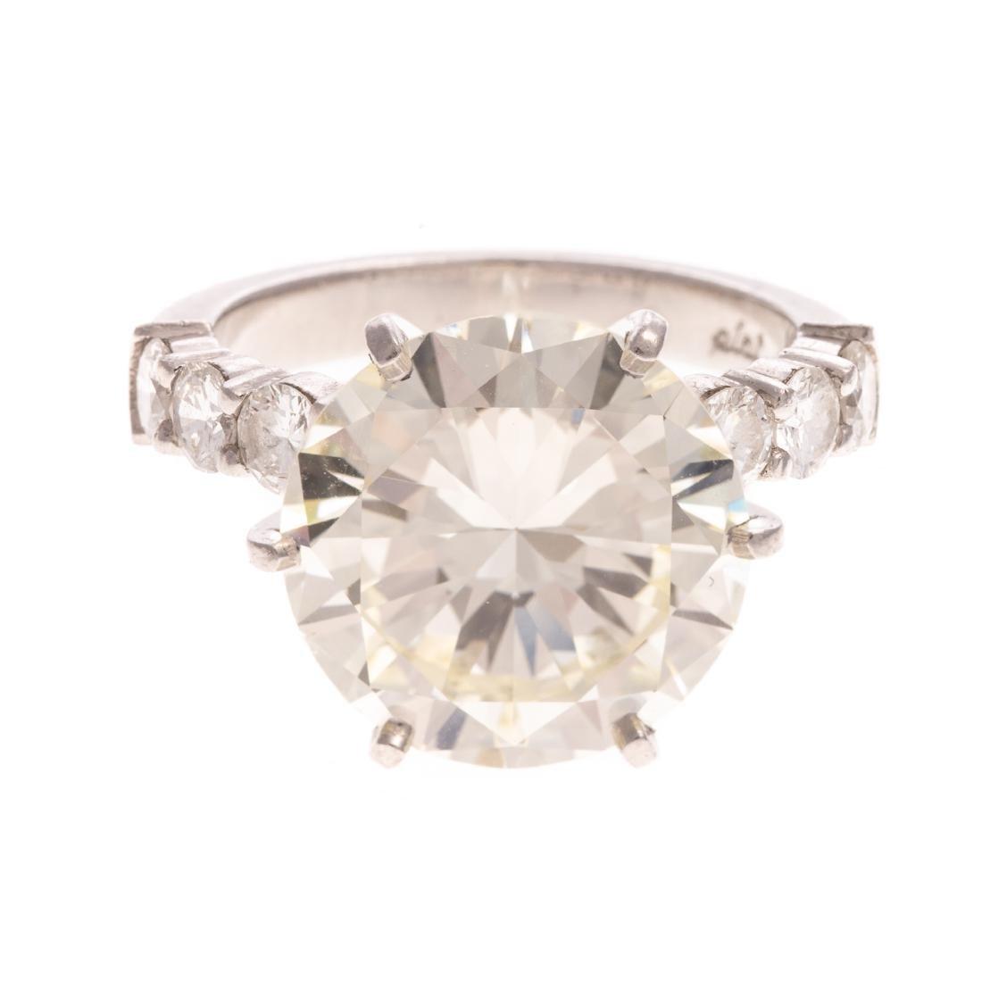 A Statement Platinum 9.28ct Diamond Ring