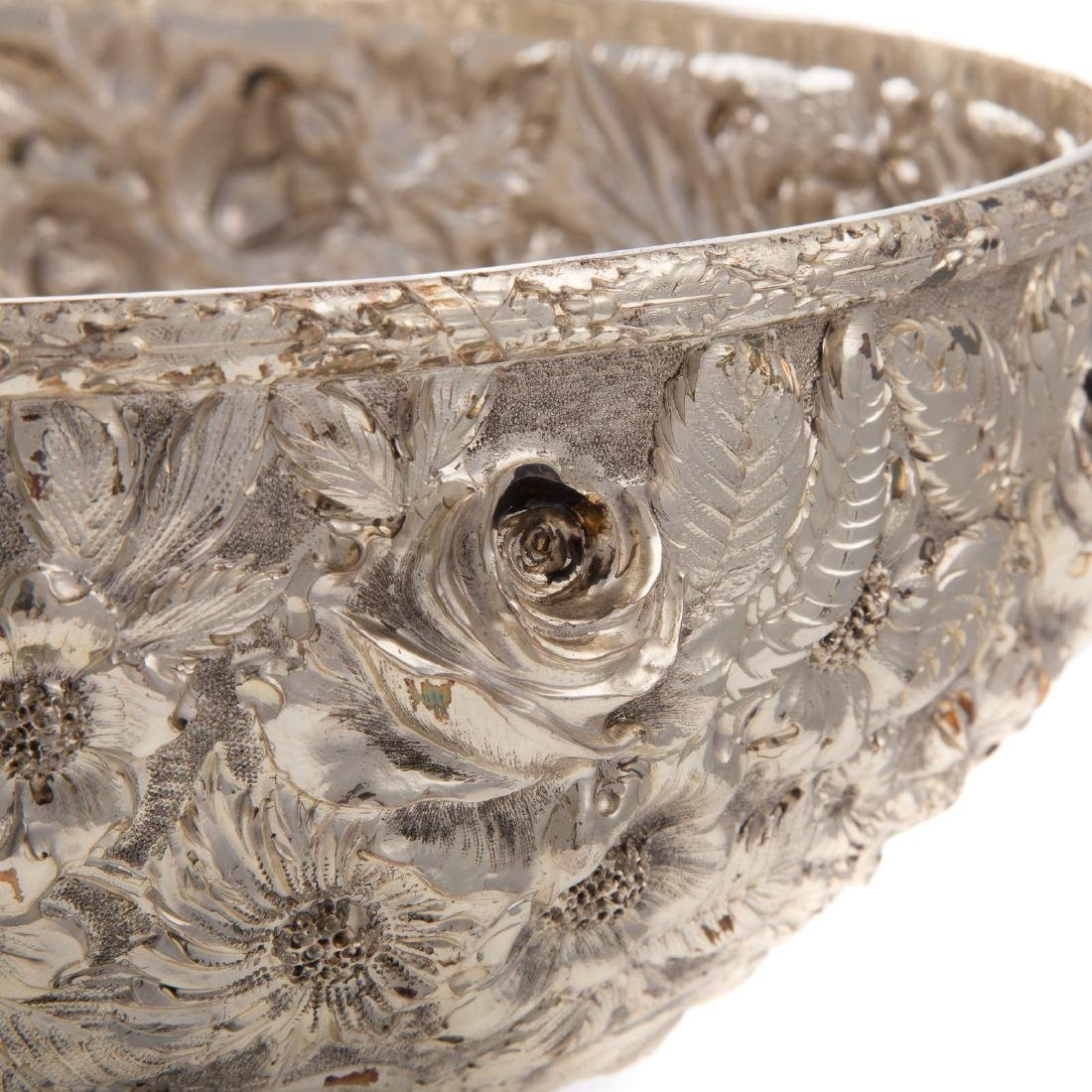 """Schofield """"Baltimore Rose"""" sterling punch bowl - 3"""