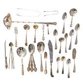 A collection of American silver flatware
