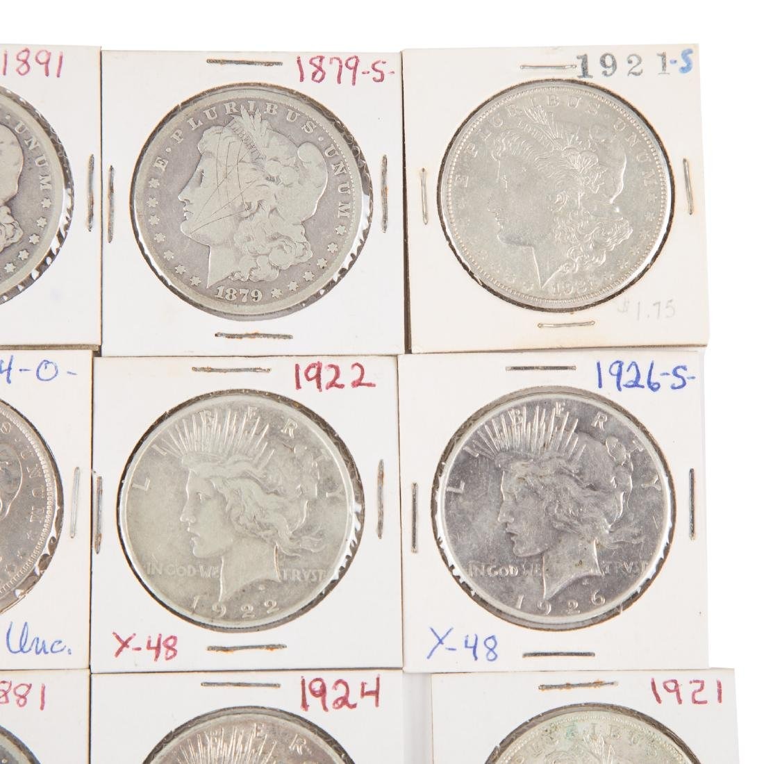 [US] 33 Morgan and Peace Silver Dollars - 4