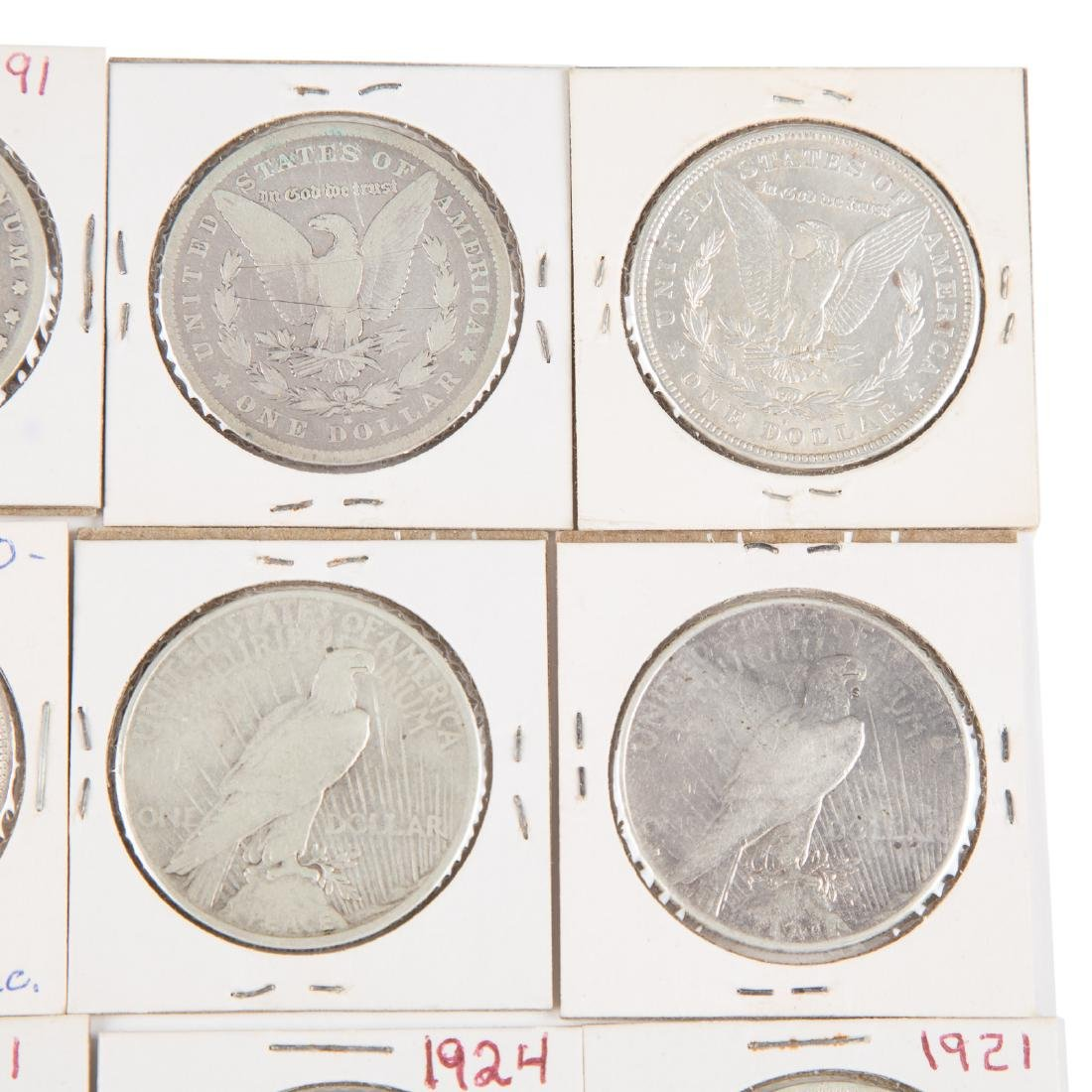 [US] 33 Morgan and Peace Silver Dollars - 5
