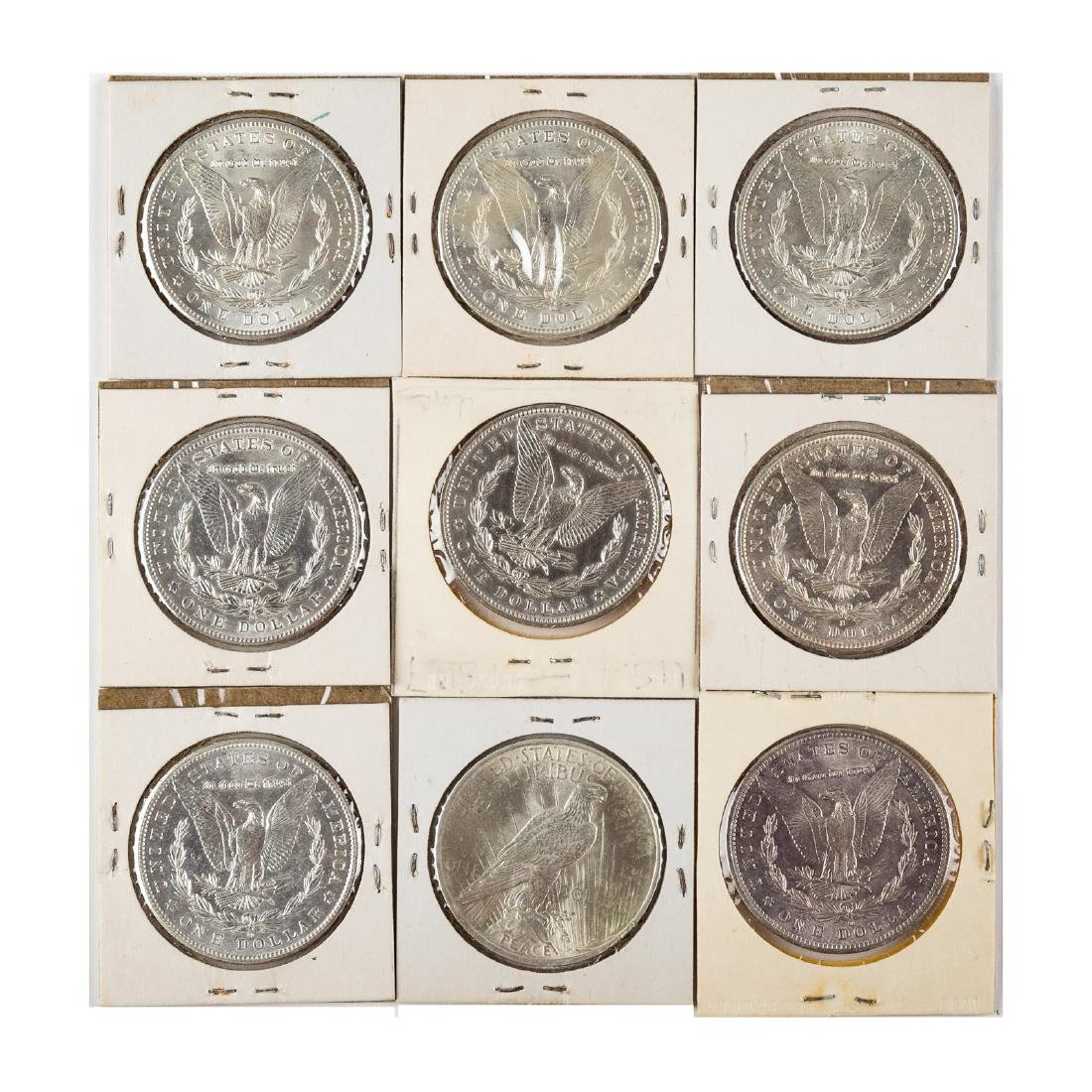 [US] Nine Uncirculated/Better Silver Dollars - 2