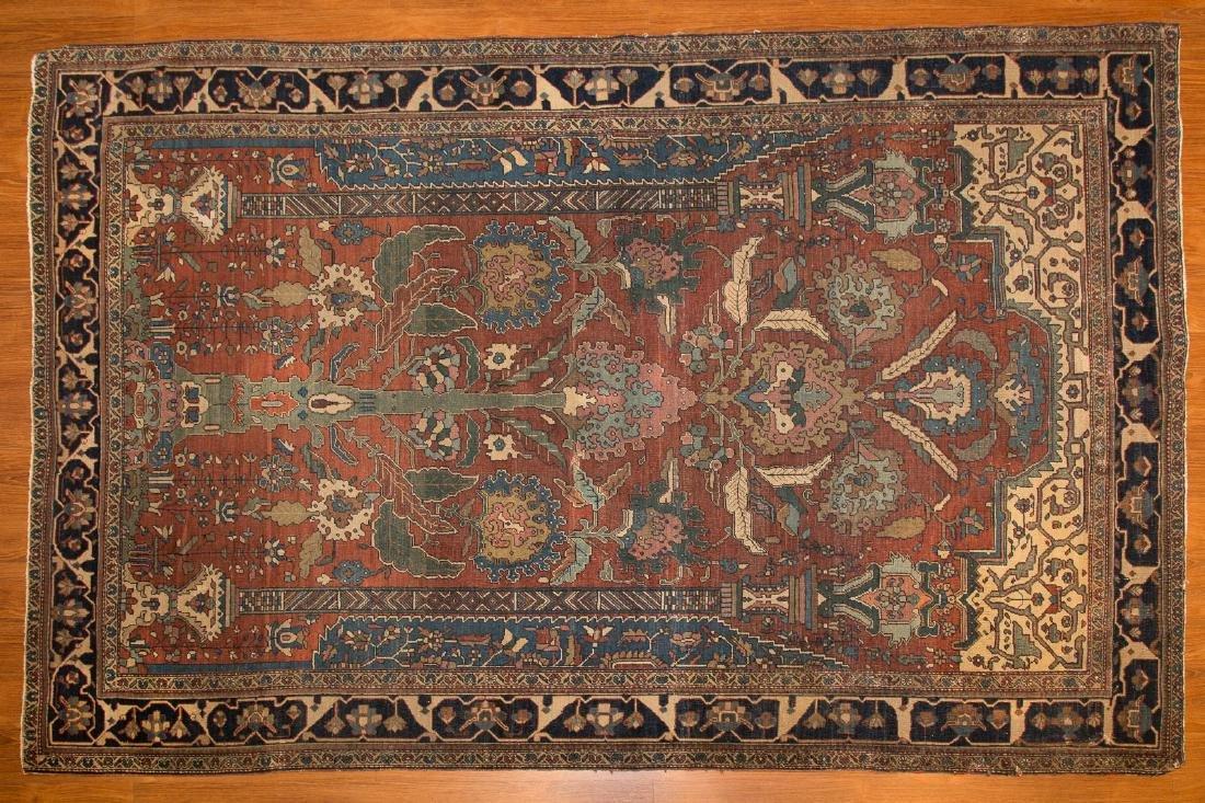 Antique Feraghan Sarouk rug, approx. 4.5 x 6.8
