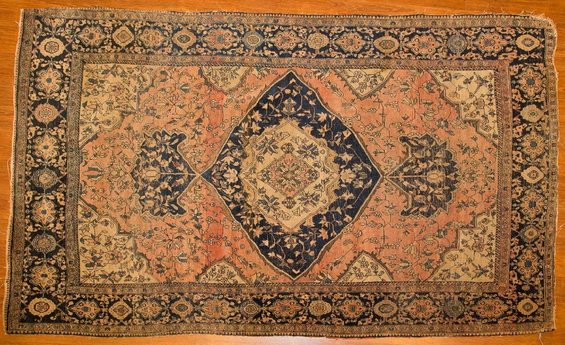 Antique Feraghan Sarouk rug, approx. 4 x 6.7