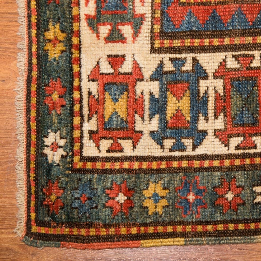 Antique Kazak rug, approx. 3.9 x 5.4 - 2