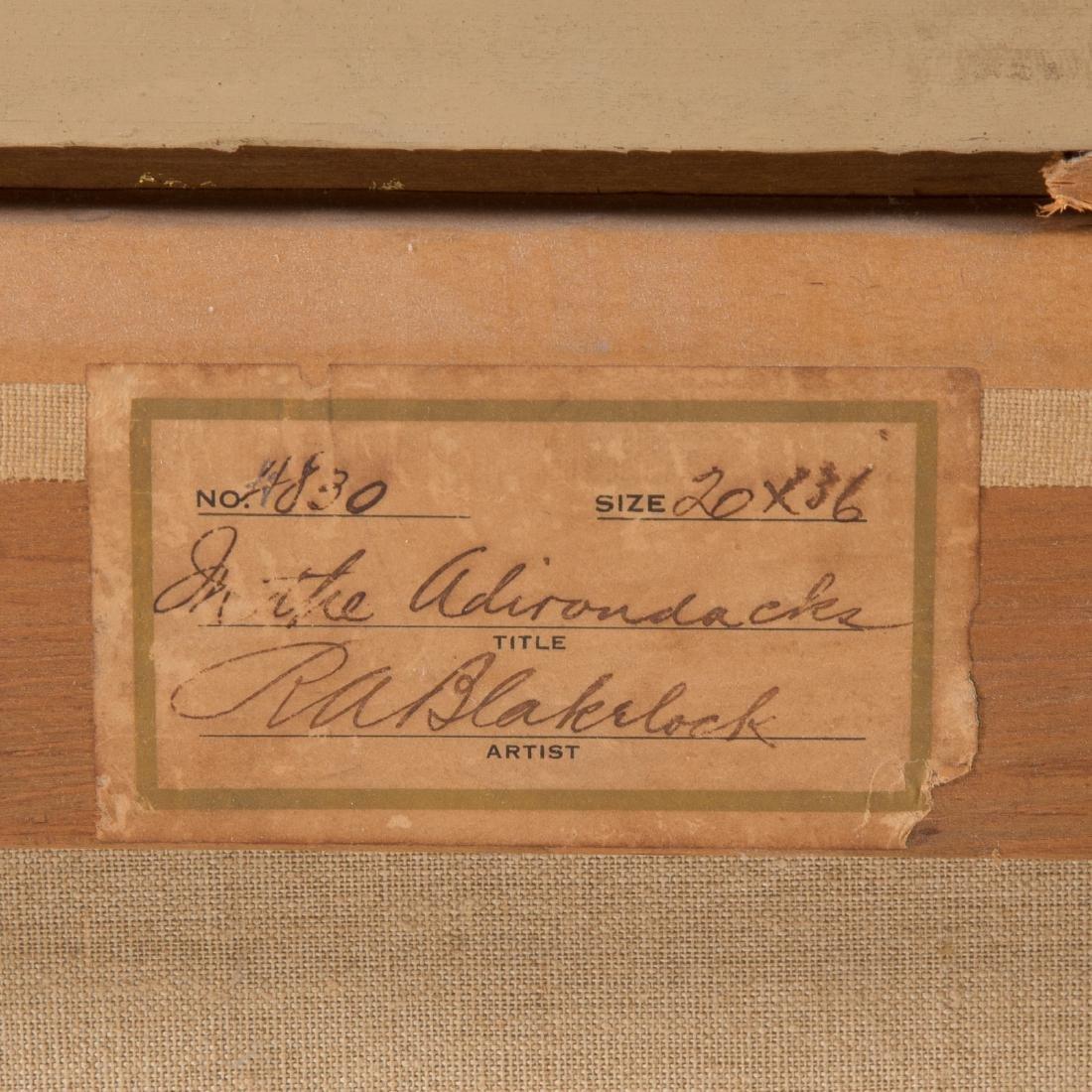 """Ralph Albert Blakelock. """"In the Adirondacks,"""" oil - 6"""