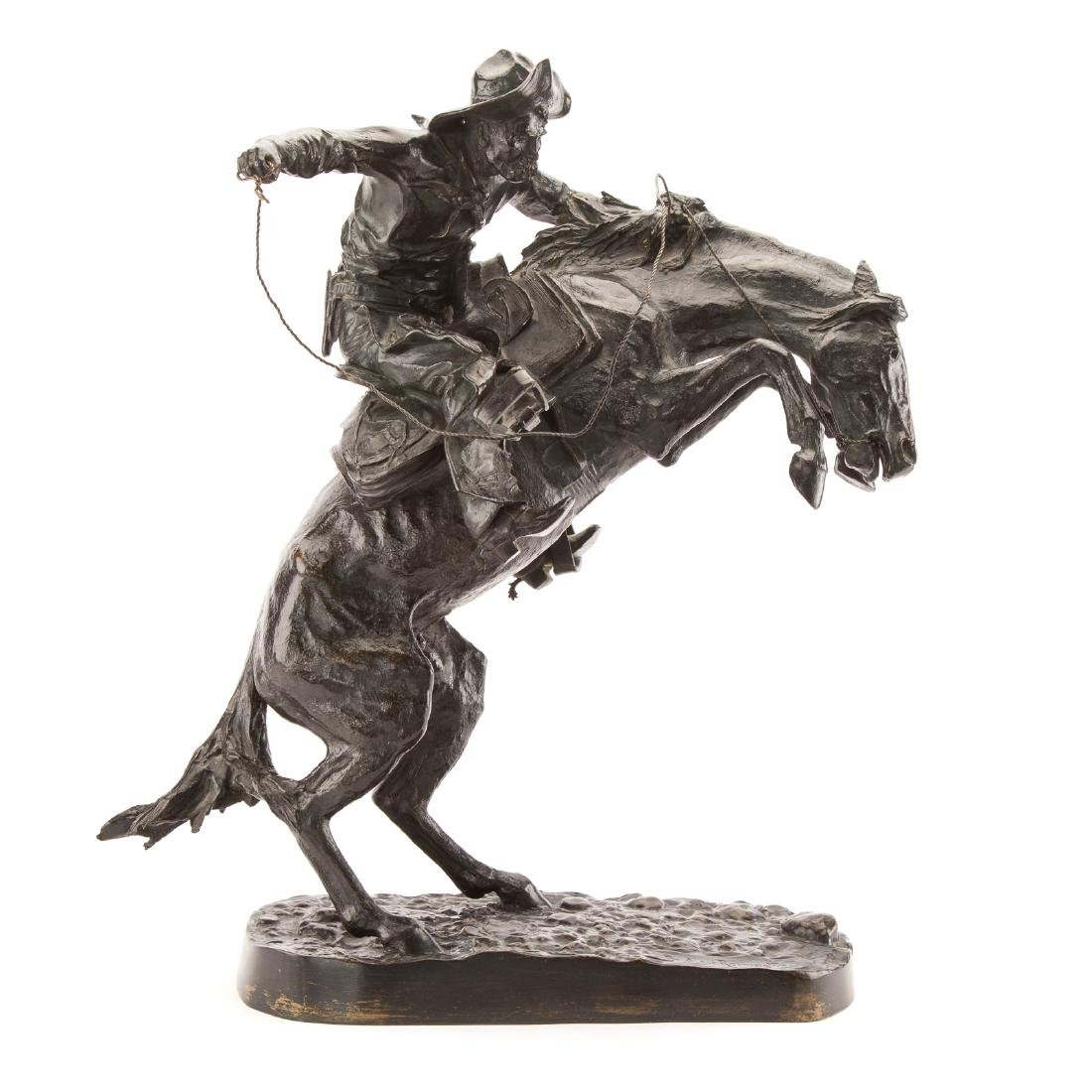 "Frederic Remington. ""The Broncho Buster"", bronze"