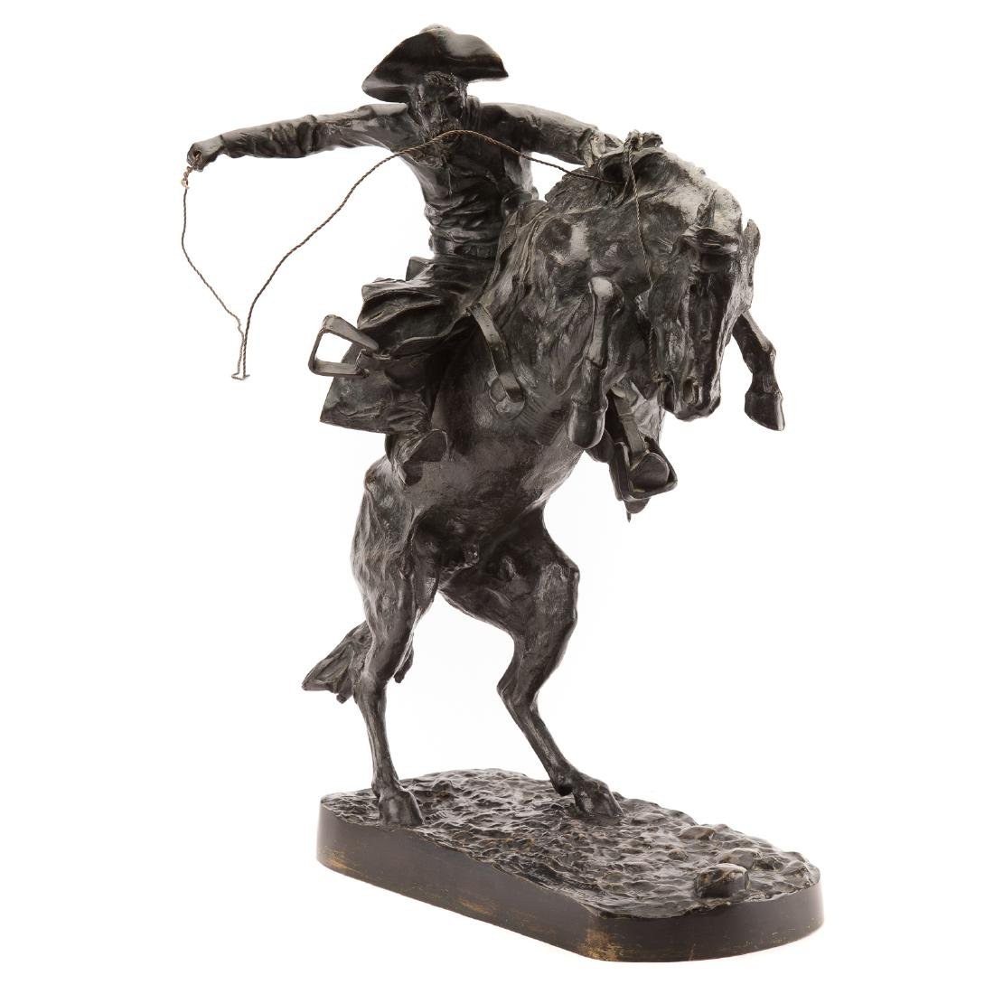 "Frederic Remington. ""The Broncho Buster"", bronze - 2"