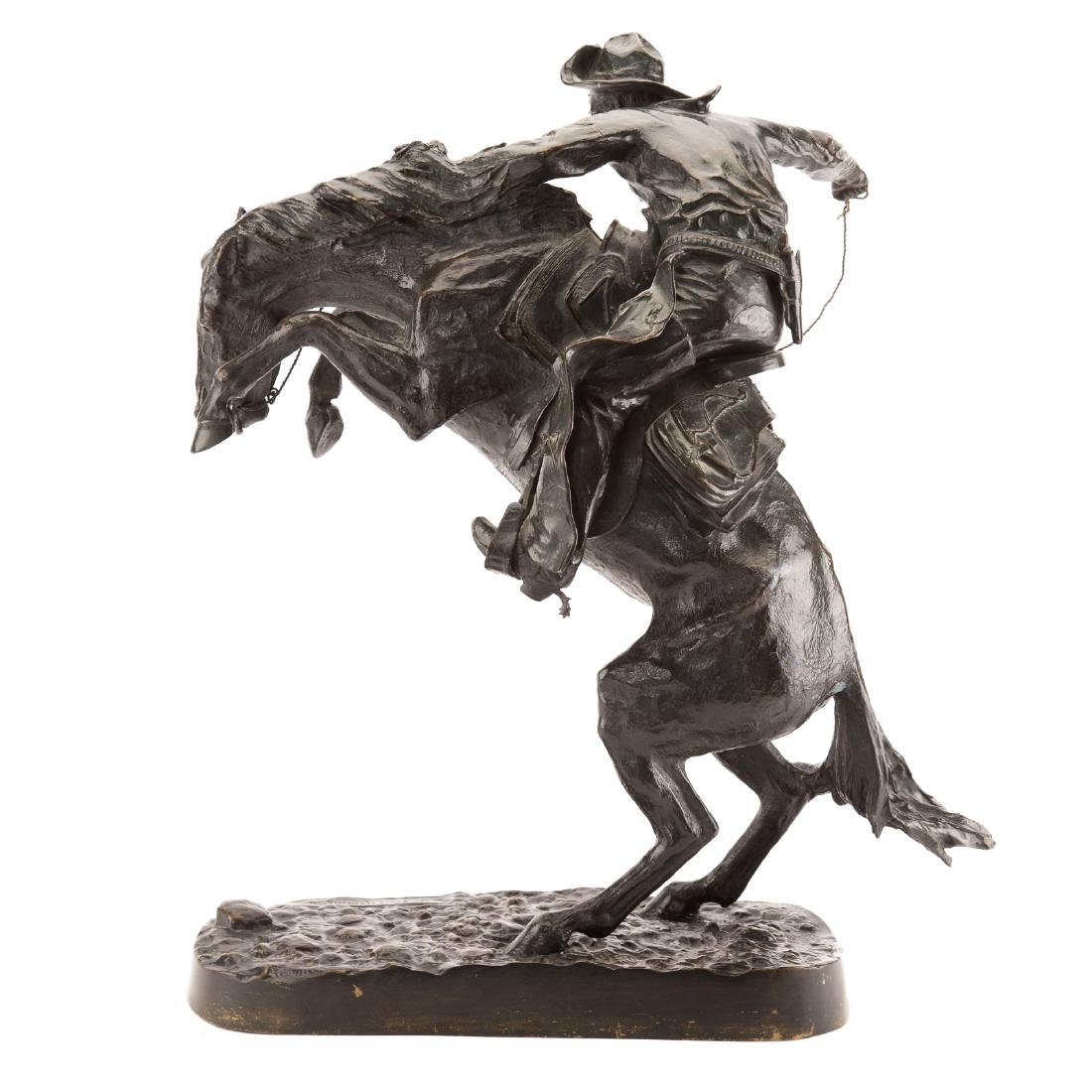 "Frederic Remington. ""The Broncho Buster"", bronze - 3"