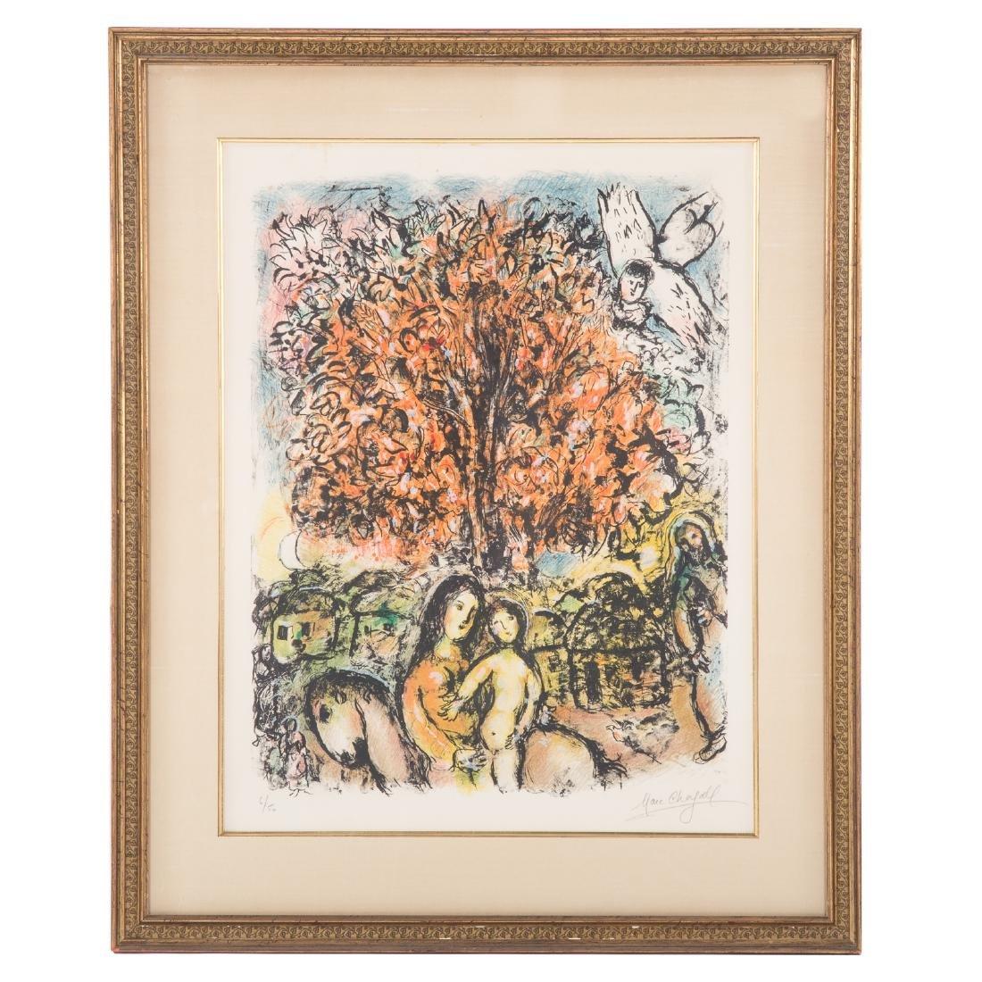 """Marc Chagall. """"La Sainte Famille,"""" lithograph"""