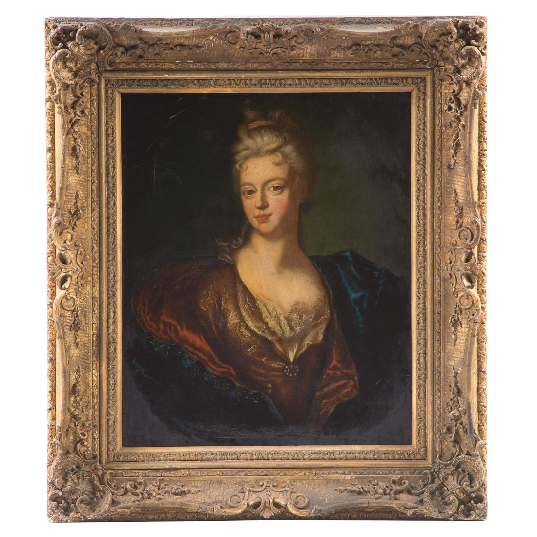 French School, 18th c. Portrait of a Lady, oil