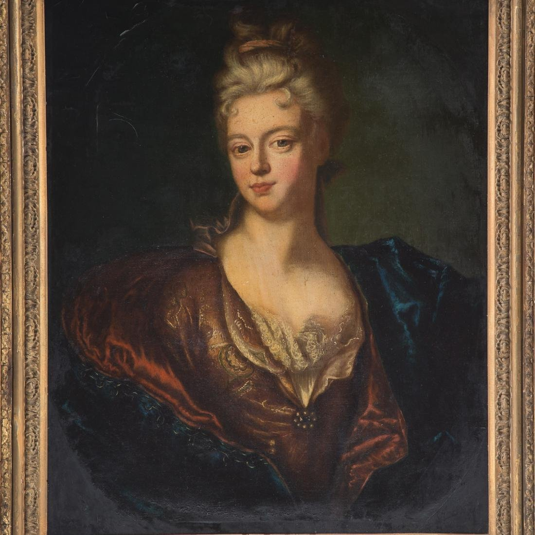 French School, 18th c. Portrait of a Lady, oil - 2