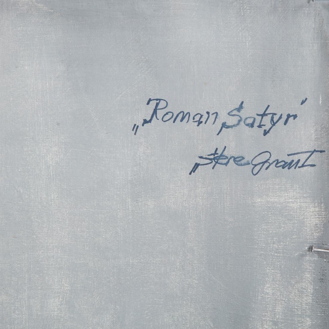 """Stere Grant. """"Roman Satyr,"""" oil on board - 5"""