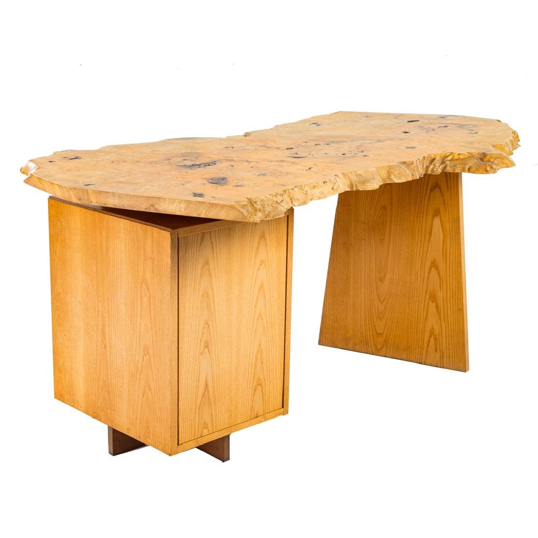 George Nakashima Custom Slab Top Pedestal Desk - 5