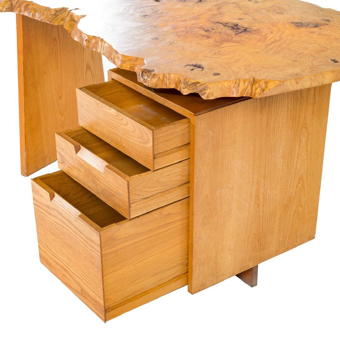 George Nakashima Custom Slab Top Pedestal Desk - 7