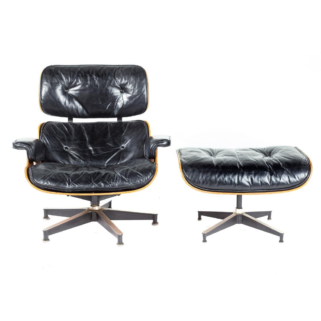 Eames for Herman Miller Lounge Chair and Ottoman - 3
