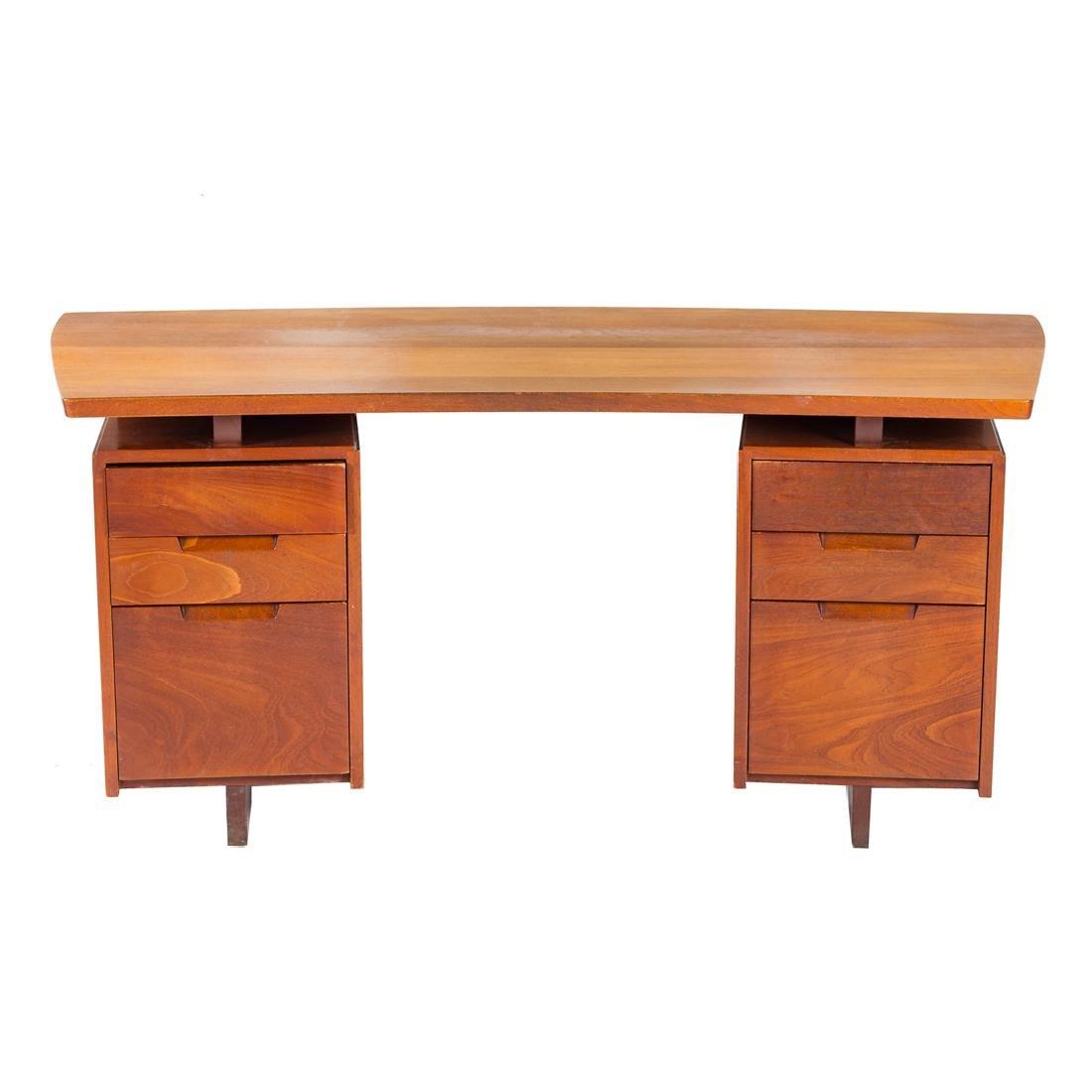 George Nakashima Double Pedestal Desk