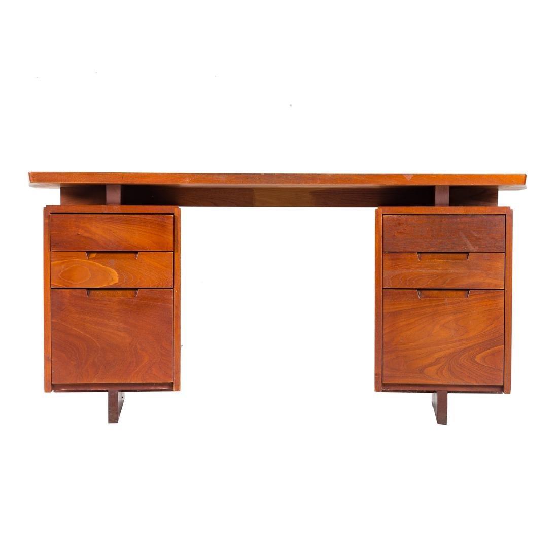 George Nakashima Double Pedestal Desk - 2
